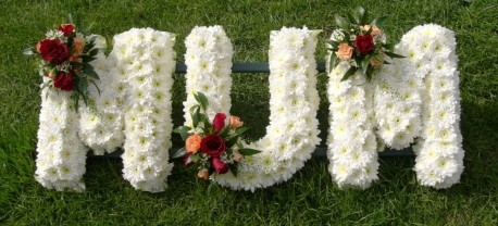 Funeral lettering